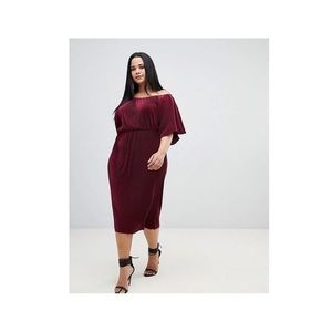 ASOS Curve off shoulder  Dress Burgundy Size 24